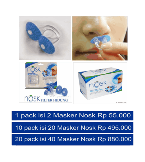 Peralatan rumah sakit dengan masker hidung nosk